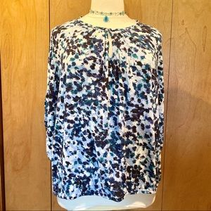 Sz 2X Daisy Fuentes tunic top in teal and black
